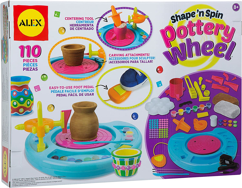 Alex Toys 234797 Deluxe Pottery Wheel Kit Multicoloured 8 89 X 40 64 X 34 29 Cm Amazon Co Uk Toys Games