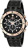 """Invicta Men's 6791 """"Pro Diver Collection"""" Black Ion-Plated Stainless Steel and Rose Gold-Tone Watch"""