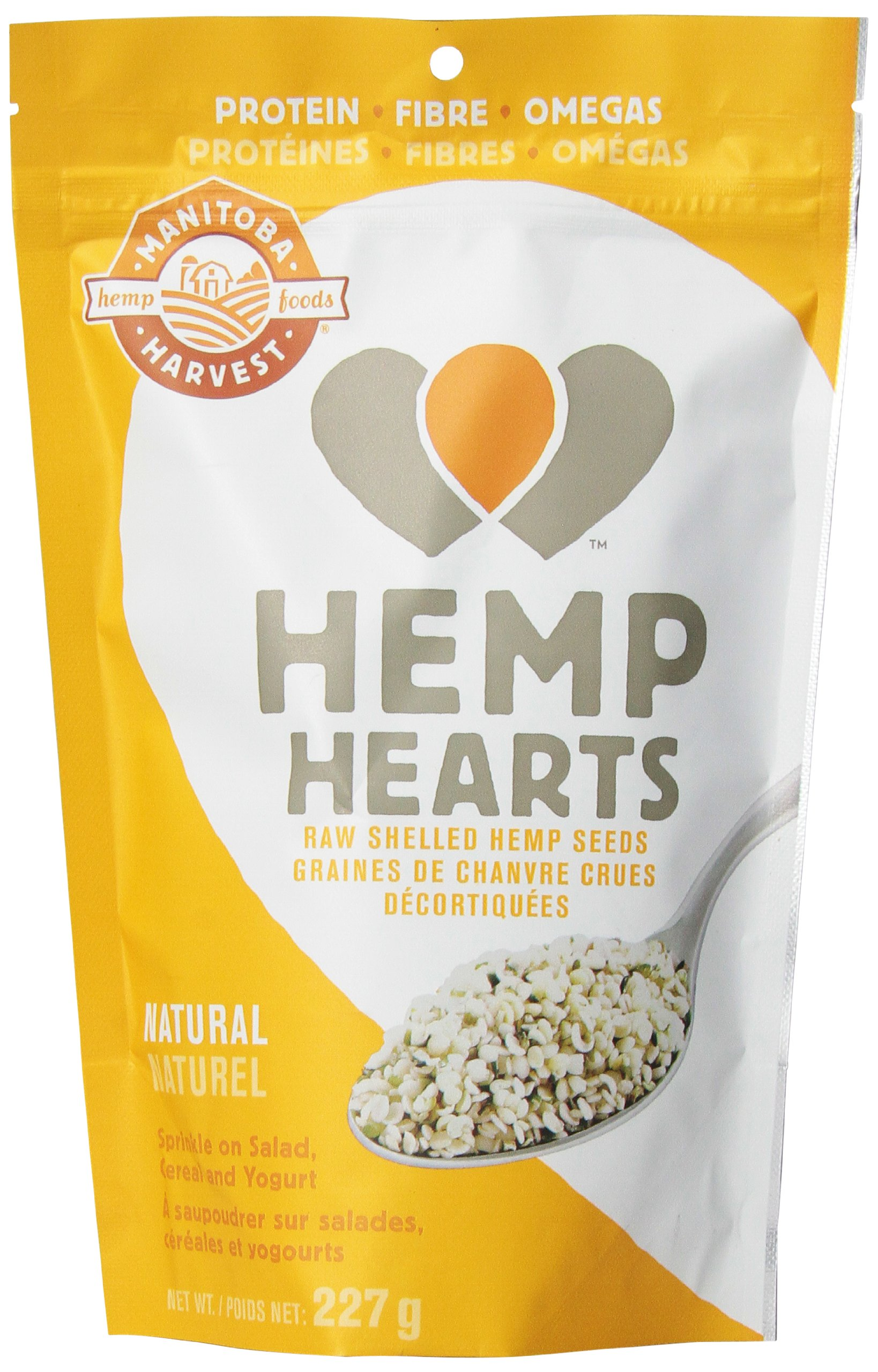 Manitoba Harvest Hemp Hearts Raw Shelled Hemp Seeds, 8 Ounce (Pack of 8)