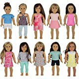 "PZAS Toys Doll Clothes for American Girl - Wardrobe Makeover, 10 Outfits, Fits 18"" Dolls - by"