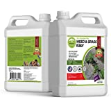 ECO Garden PRO - Organic Vinegar Weed Killer | Kid Safe Pet Safe | Clover Killer for Lawns | Moss Killer | Green Grass & Pois
