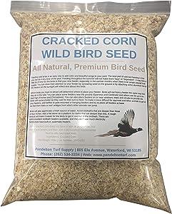 Pendelton Turf Supply Cracked Corn Wild Bird Seed | All-Natural, Premium Bird Seed (10 lbs Resealable Bag)