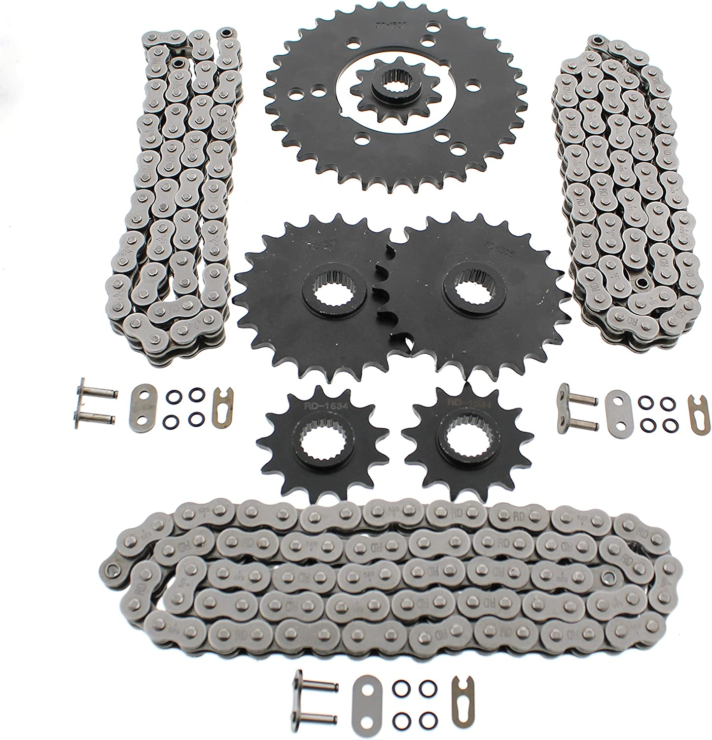 Yellow for 1994-1996 Polaris Sportsman 400 4x4 Volar O-Ring Chain