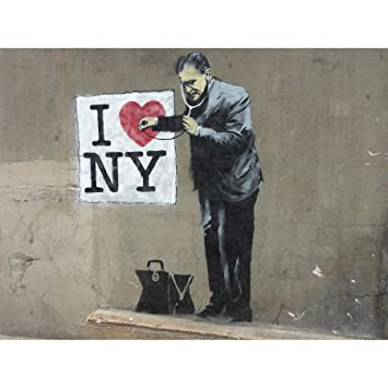 Wee Blue Coo Prints Banksy Heart Doctor Graffiti Street Art Art