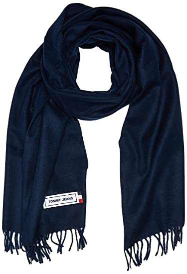 09c733a0 Tommy Hilfiger Men's Tju Tape Woven Scarf, Blue (Black Iris 496), One  (Size: OS): Amazon.co.uk: Clothing