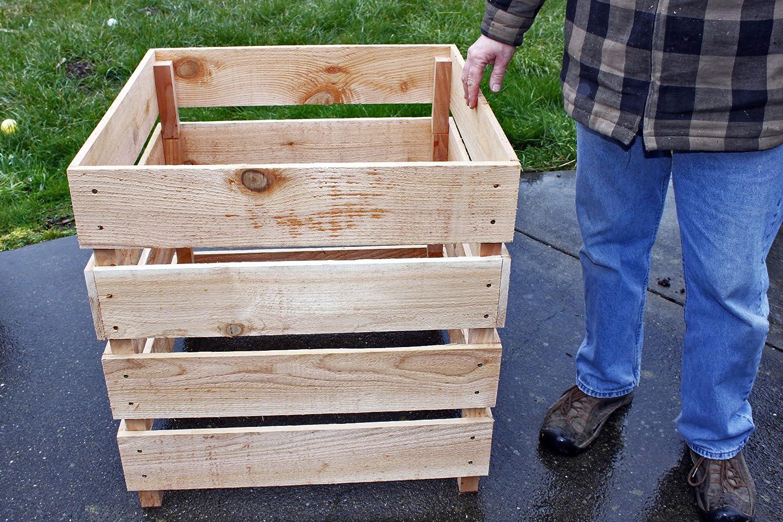 Cedar Wood Compost Bin Stackable composter