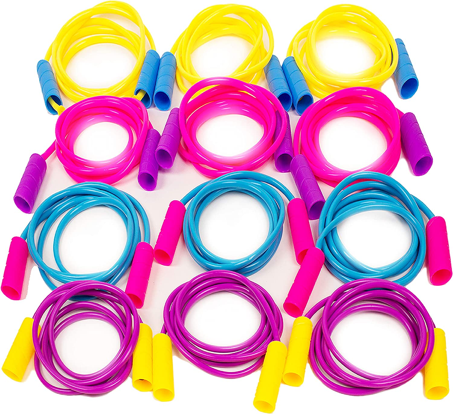 New Assorted color 7 Foot Light Jump Rope Pink Purple Green Exercise Toys Kids