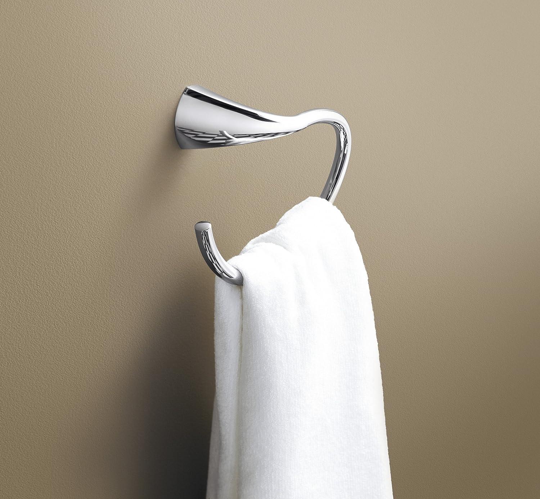 Kohler Towel Ring Wall Mounted Alteo Bathroom Hand Towel Holder Polished Chrome