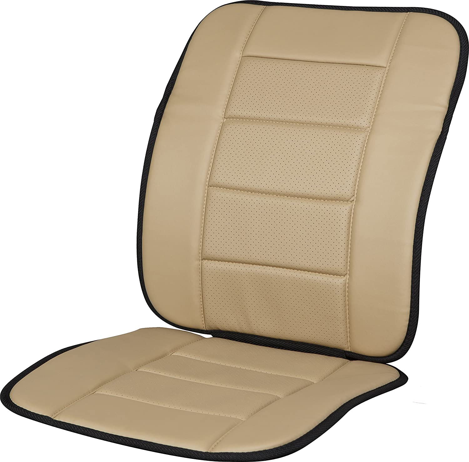 Kool Kooshion 60-287005B Faux Leather Full Seat Cushion, Black