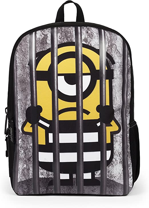 Mojo Life Despicable Me Minions Behind Bars Backpack School Bag