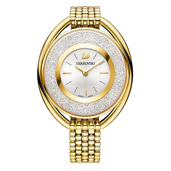 Swarovski Crystalline Oval Gold Tone Pulsera Watchhttps://amzn.to/33E5qXp