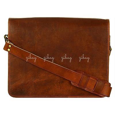 Leather Vintage Crossbody Messenger Laptop Bag Office Briefcase Men Women