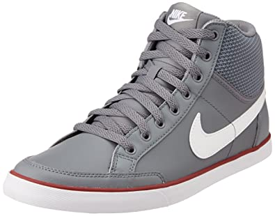 Nike Mens CAPRI III MID LTR Cool GreyWhiteGym Red Casual Sneakers
