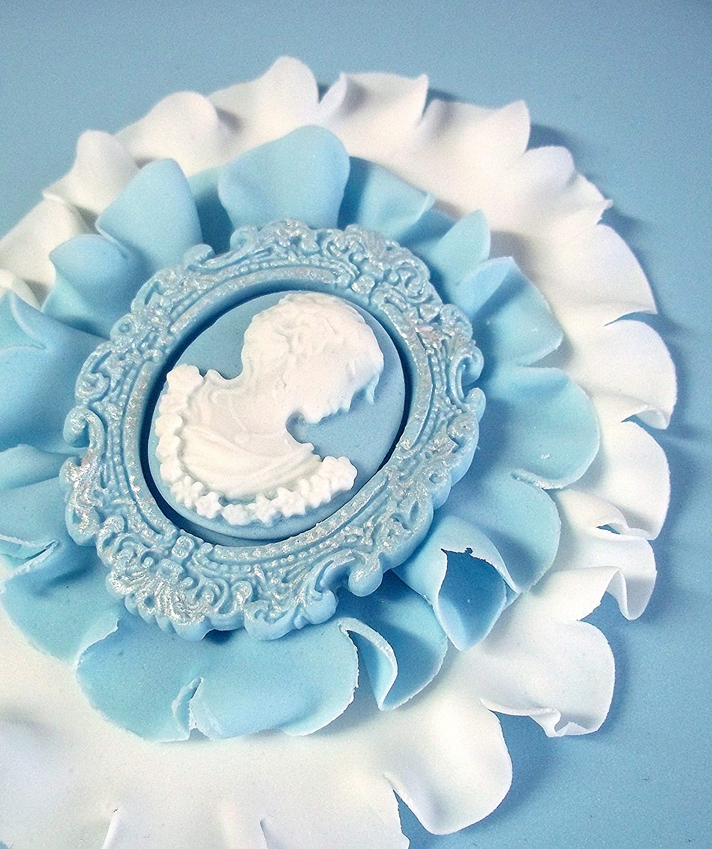 Oval Cameo /& Oval Frame 1 Embellishment Cake Mold KATY SUE DESIGNS CE10 Miniature Frames