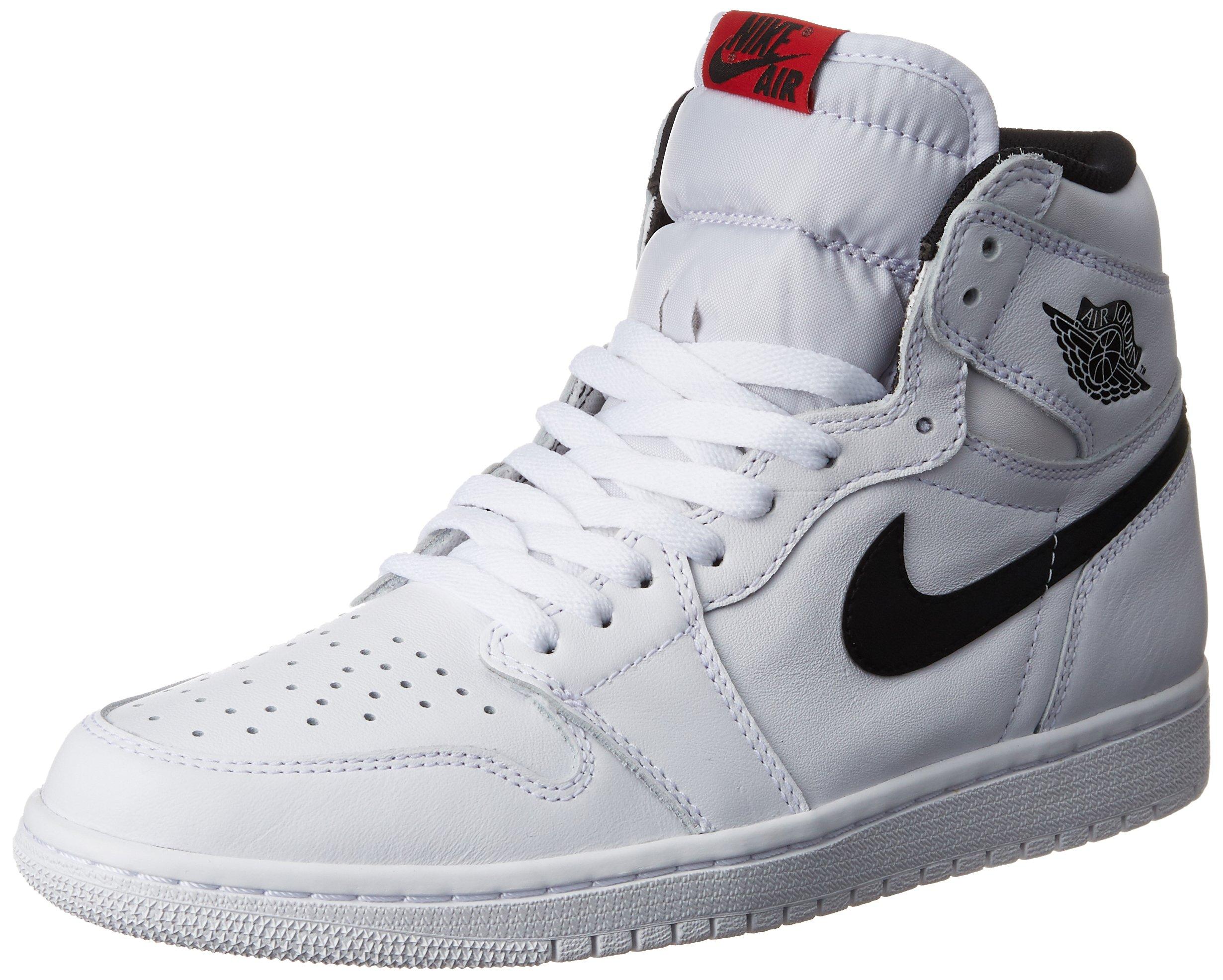 Jordan Nike Men's Air 1 Retro High OG White/Black/White Basketball Shoe 13 Men US by Jordan