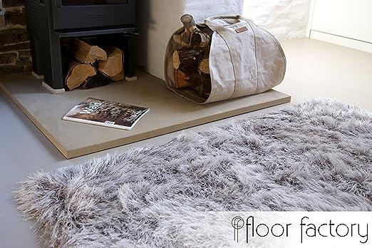 Alfombra de Pelo Largo Prestige gris argentado 120x170 cm - alfombra blanda  extra larga: Amazon.es: Hogar
