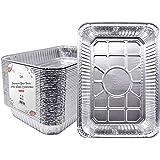 "Fig & Leaf (30 Pack) Weber Grills Compatible 6416 Drip Pans l Size 13"" x 9"" x 2"" l Aluminum Foil l 36 Gauge l Fit Weber Spirit, Genesis Charcoal Grills. Holds Meat, Dishes, Indirect Grill Cooking"