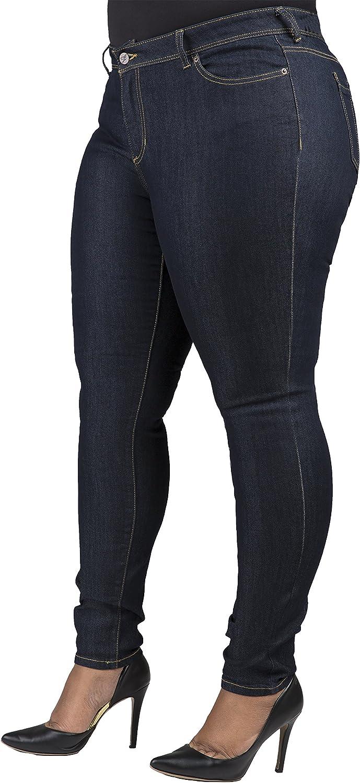 Poetic Justice Plus Size Womens Curvy Fit Dark Indigo Stretch Denim Skinny Jeans