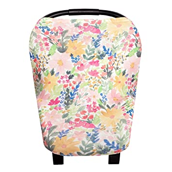 NEW Copper Pearl Floral Stretchy Multi-use Canopy 5 in 1 Design Nursing Cover