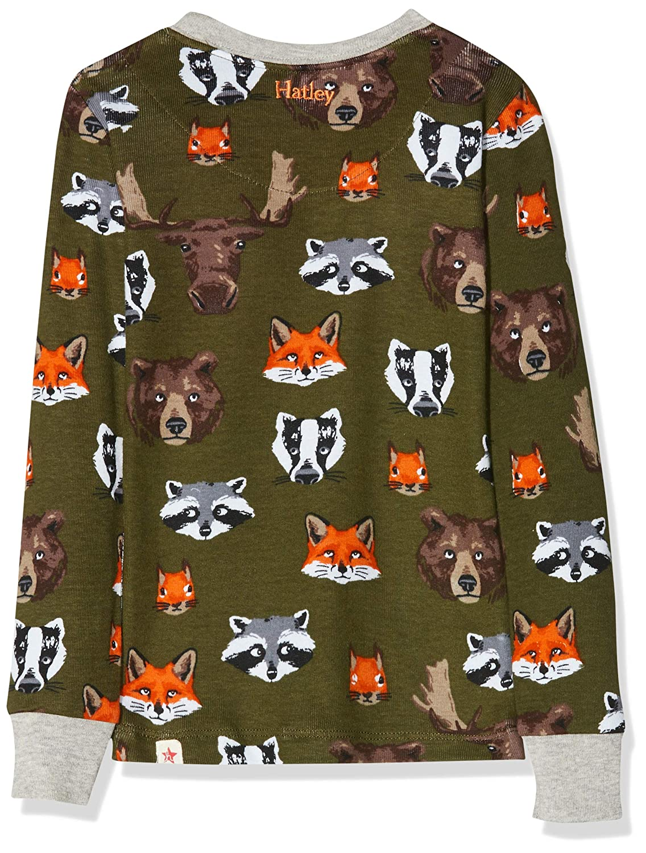 Verde Taglia Produttore: 4 Bambino Hatley Organic Cotton Long Sleeve Printed Pyjama Sets Pigiama Woodland Critters 300 4 Anni