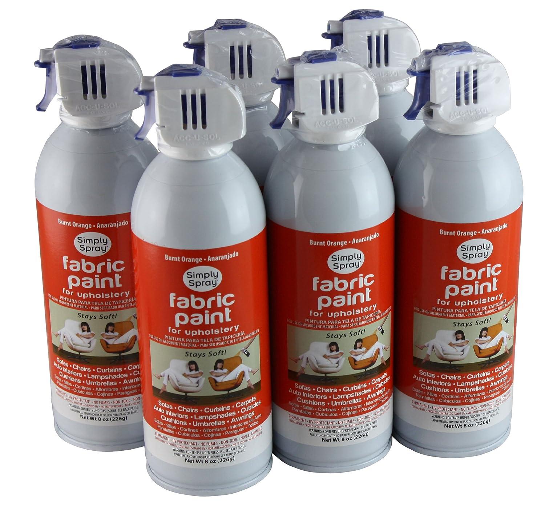 Amazon.com: Simply Spray Upholstery Fabric Spray Paint 6 Pack Burnt Orange