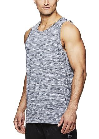 168ef51c2f22d8 Reebok Men s Gym Training   Workout Tank Top - Sleeveless Activewear Shirt  - Sleet Decline Press