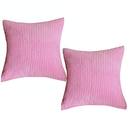 Sunday Praise Supersoft Velvet Toss Pillow Cover Solid Striped Decorative  Pillows Zippered Accent Handmade Throw Cushion 1919919c3