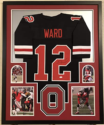 release date d635a 8fd8e Denzel Ward Autographed Custom Framed Ohio State Buckeyes ...