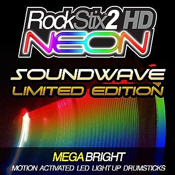 """rockstix 2 HD NEON Color Change – con """"onda de sonido,"""""""