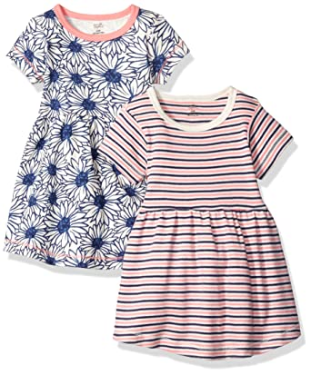 Amazon Com Touched By Nature Baby 2 Pack Organic Cotton Dress Clothing