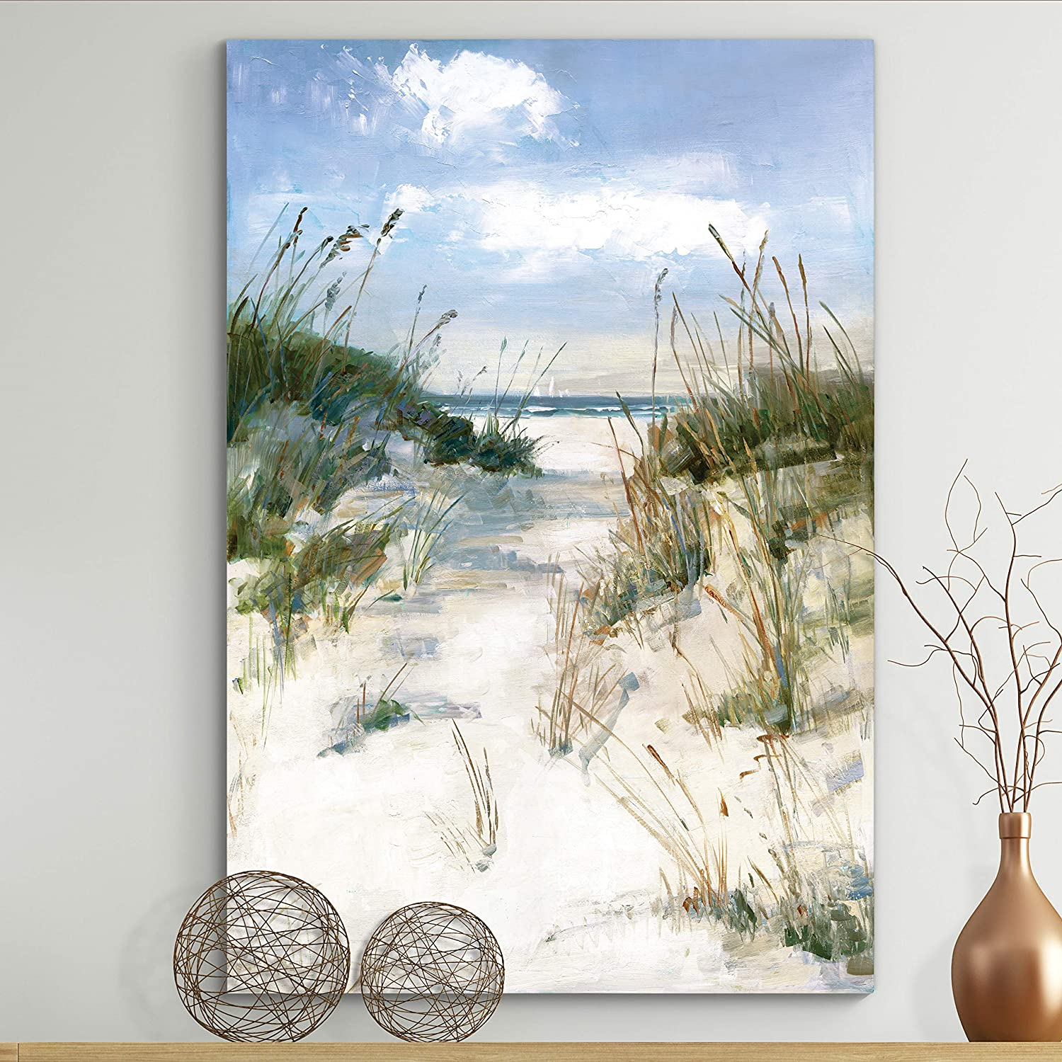 Amazon Com Renditions Gallery Ocean Forest Photographic Prints On Gallery Wrapped Canvas Art Landscape Wall Decorations Ready To Hang For Home Office 12x18 Dune View Home Kitchen