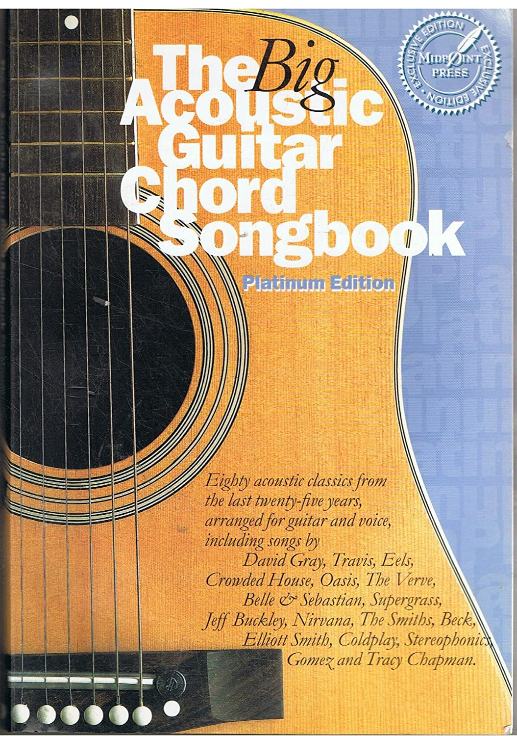 Amazon The Big Acoustic Guitar Chord Songbook Platinum Edition