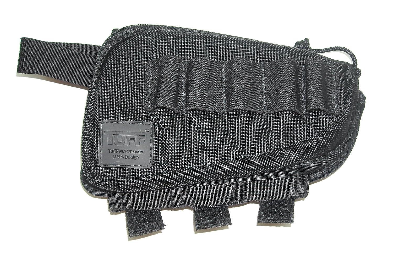 TUFF 4014-NYV-12G Butt Stock Saddle, Black