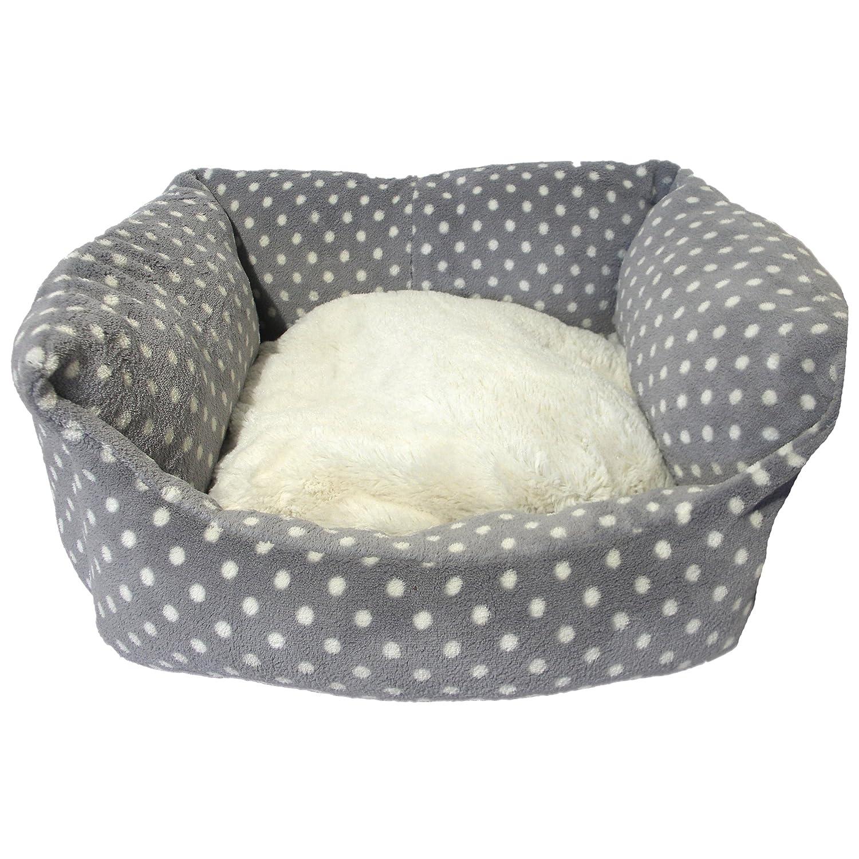 40 Winks Rosewood Pequeño perro/gato para dormir cama, 40,6 cm, gris/crema SPOT: Amazon.es: Productos para mascotas