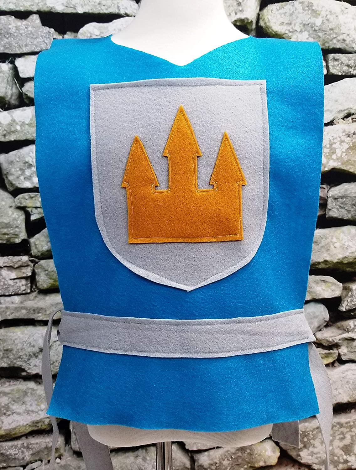 King, Prince, Medieval, Solider Baby Adult Sizes Toddler Kids Aqua Blue Knight Costume Tunic Teen