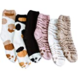 Fuzzy Socks for Women - Warm Slipper Socks, Super Soft & Plush Cushion, Cozy Ankle Crew Length Comfy Socks for Home and…