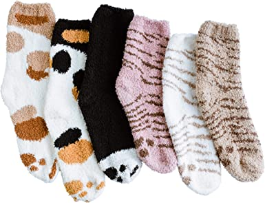 Soft Fuzzy Ankle Ladies Socks  Size 4-10 Choice color selection New 1 Pack of 2