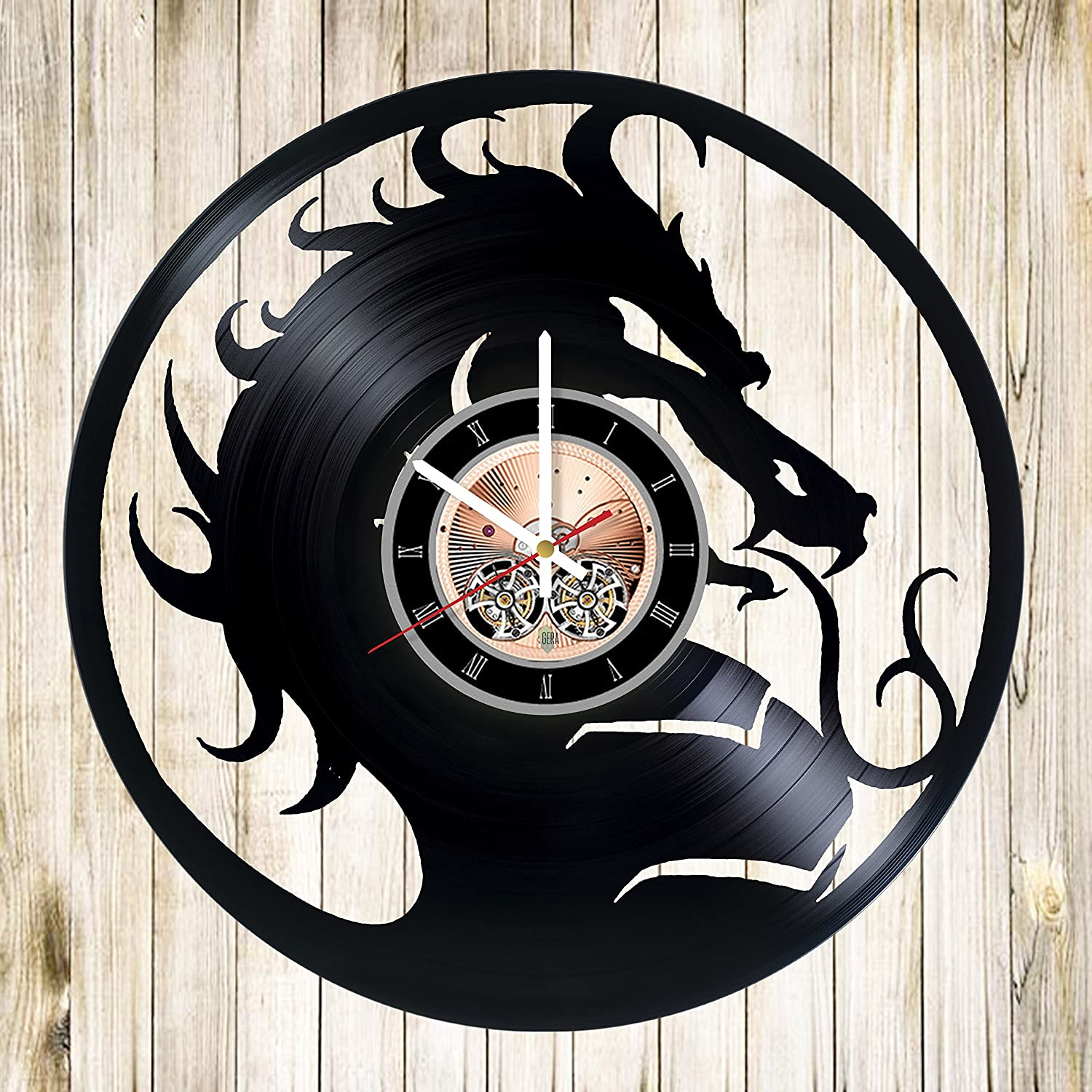 Mortal Kombat Vinyl Record Wall Clock – Play Room wall decor – Gift ideas for teens, boys, brother – Game Unique Art Design