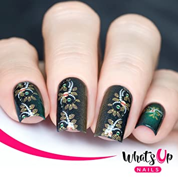Amazon Whats Up Nails P022 Jeweled Vines Water Decals Sliders