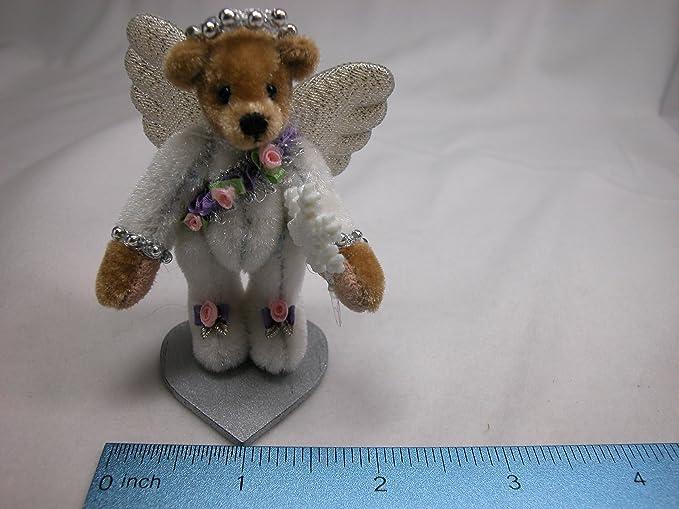 "World of Miniature Bears 2.5/"" Cashmere Bear Scarlet #683 Collectible Bear"