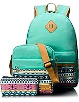 Leaper Canvas Backpack for Kids School Backpack Shoulder Bag Pencil Bag
