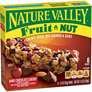 Nature Valley Granola Bars, Chewy Trail Mix, Dark Chocolate Cherry 7.4 oz (6 Bars)