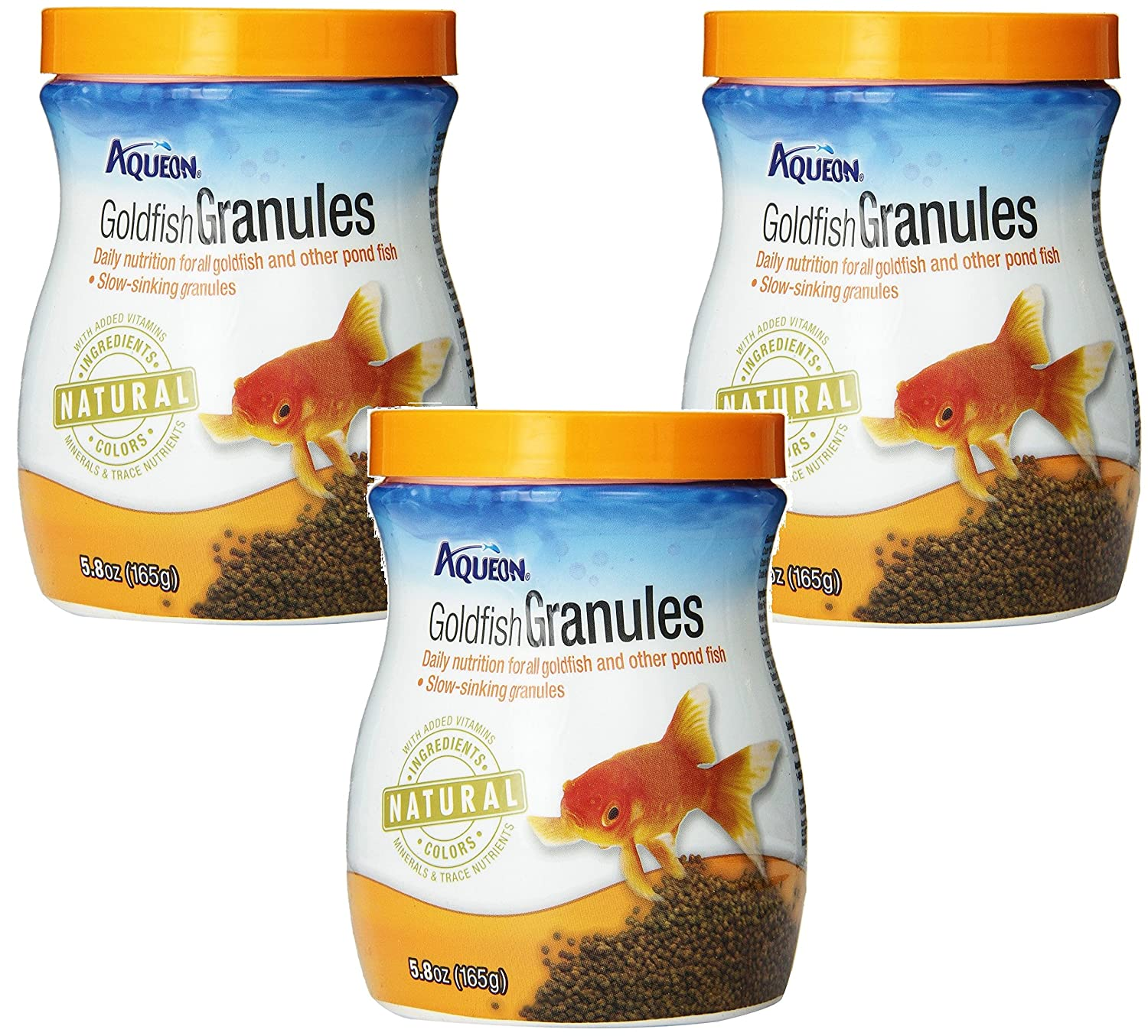 (3 Pack) Aqueon goldfish Granules 5.8-Ounce Each