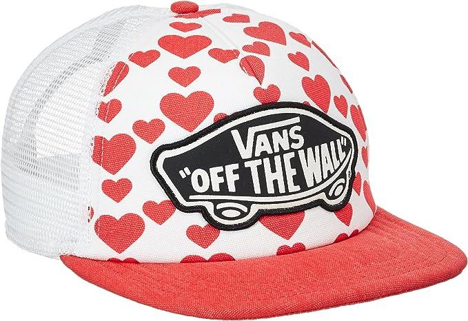 Vans Beach Trucker Hat Gorra de béisbol, Rojo (Hearts 4xm), Talla ...