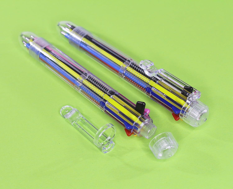 Multi Colour Pen 10 Pack 6 Vivid Colors In Every Pencil