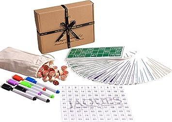 Juego de Juegos de Bingo de Jaques de Londres - Cartones de Bingo con Bolas    contadores de Bingo - Completo con Saco  Amazon.es  Juguetes y juegos 72270871221f0