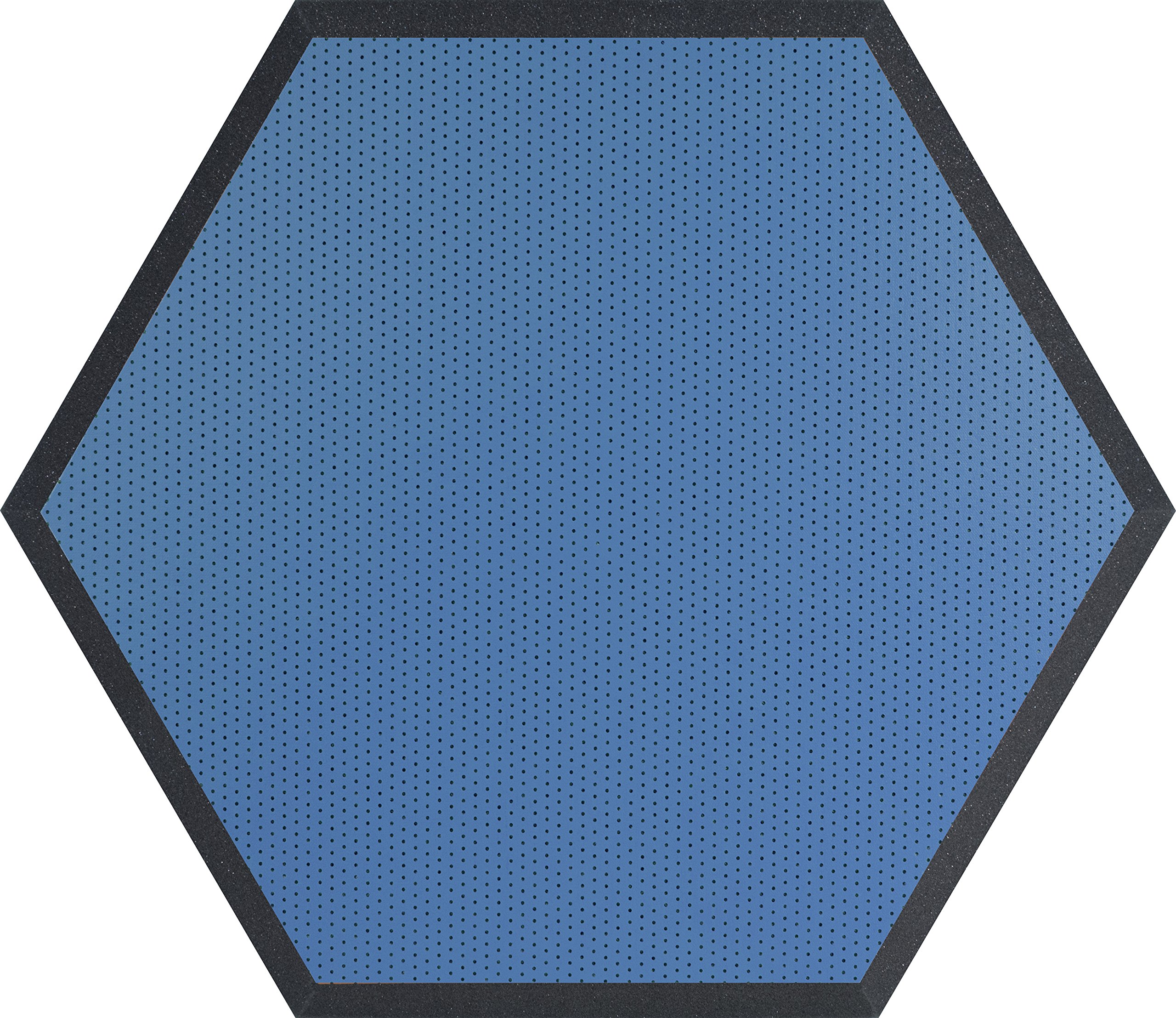 Ultimate Acoustics UA-HX-24BL 24'' Class B Hexagonal Foam Wall Panels, Blue Vinyl (Pair)