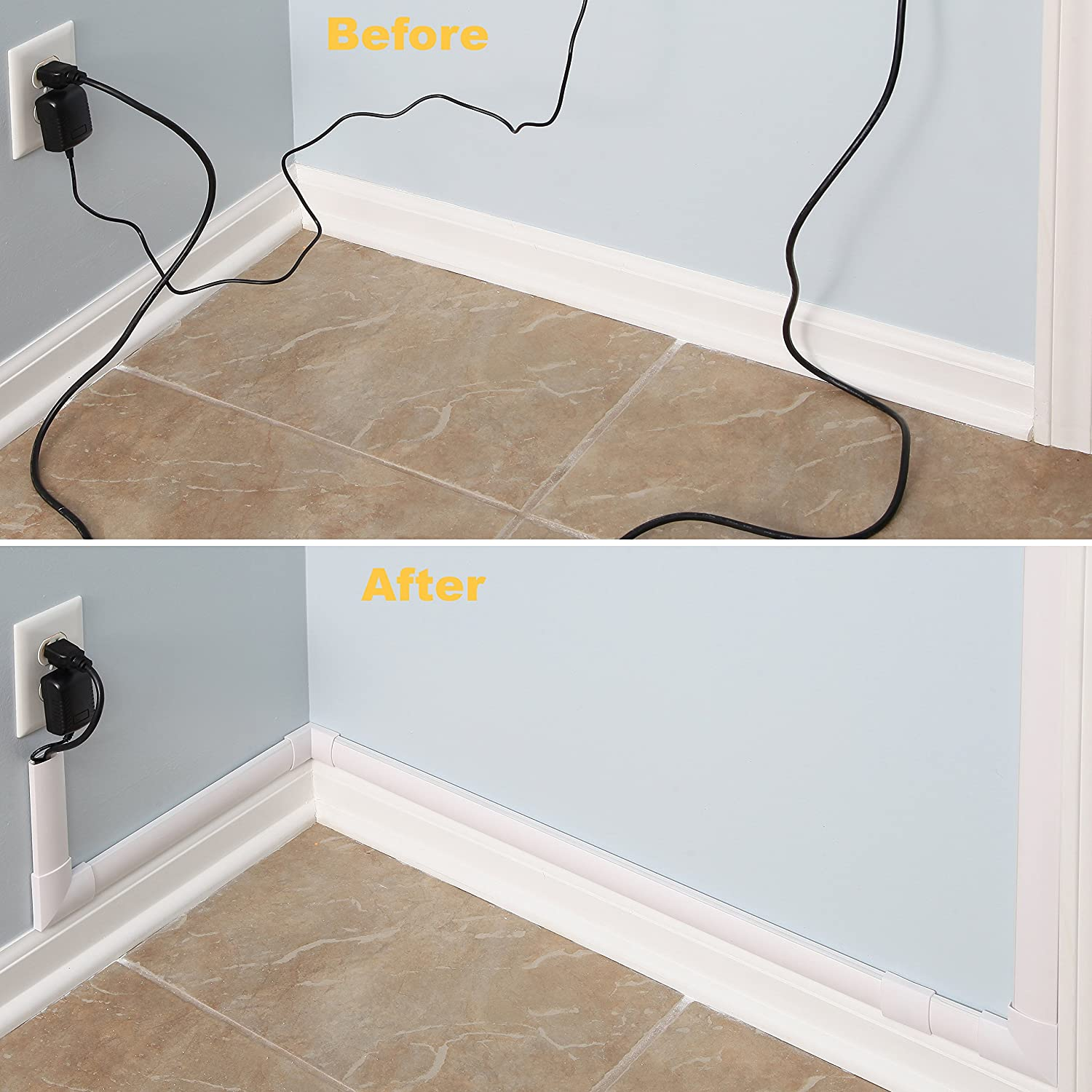 Cord Concealer System Covers Cables Cords Or Wires Cable Cover Wiring Wall Management Raceway Kit