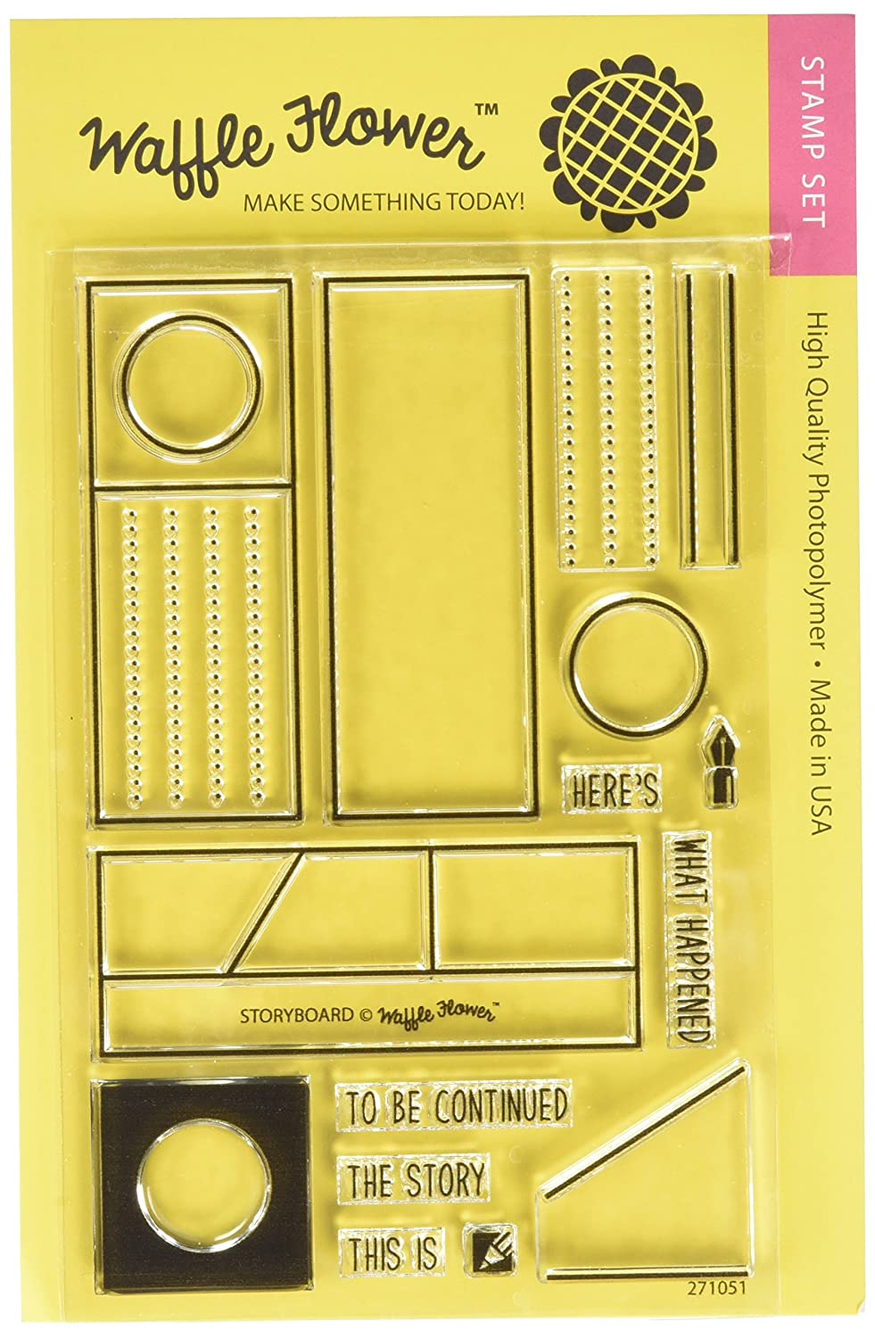 Waffle Flower Crafts 271051 Storyboard Stamps, 4 by 6, Clear 4 by 6
