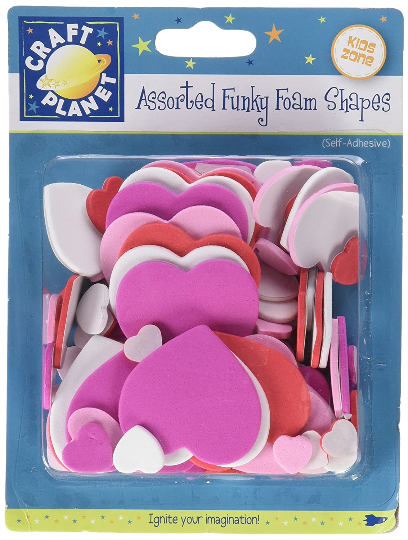 Craft Planet FunkyFoam - Bote con letras y números de gomaespuma adhesivos, multicolor: Amazon.es: Oficina y papelería